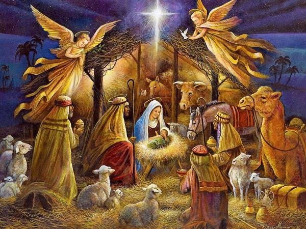 fabriquer une crèche de Noël tous présents