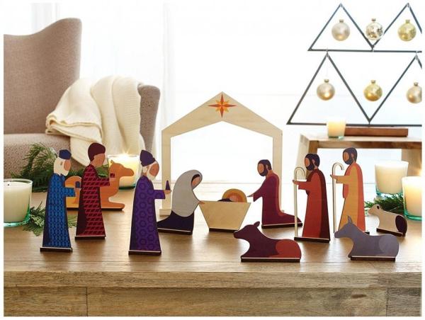 fabriquer une crèche de Noël un décor pour la table