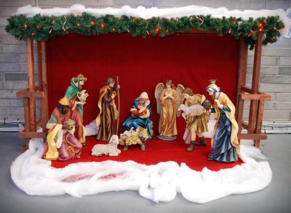 fabriquer une crèche de Noël une crèche sophistiquée