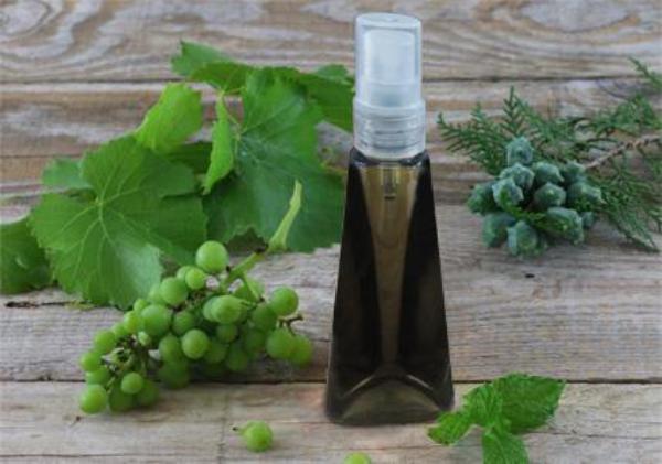 huile de pépins de raisin en emballage