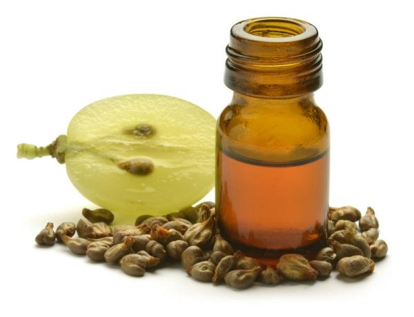 huile de pépins de raisin graine coupée