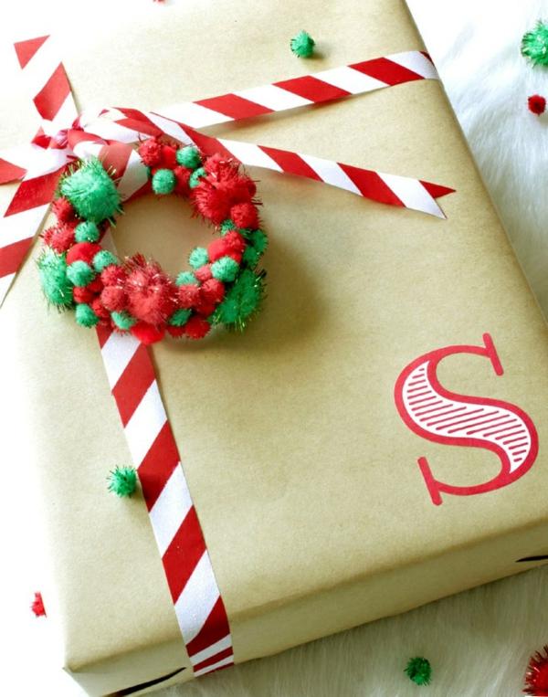idée couronne noël boîte cadeau