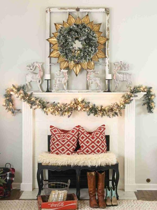 d co chemin e no l 65 id es pour une joyeuse f te. Black Bedroom Furniture Sets. Home Design Ideas
