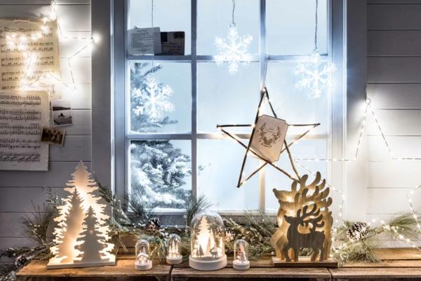 idée déco fenêtre noël décoration lumineuse