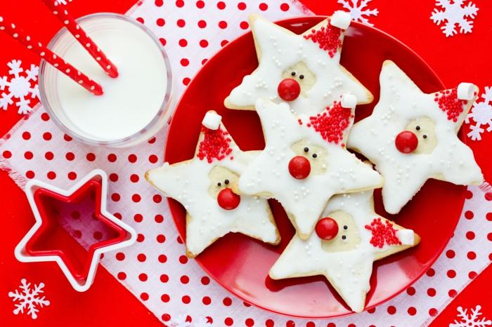 idée glaçage biscuit noël étoiles père noël