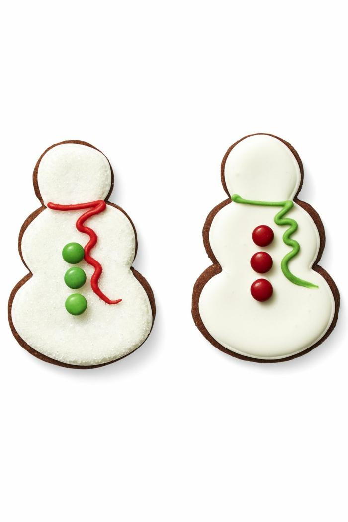 idée glaçage biscuit noël bonhomme de neige