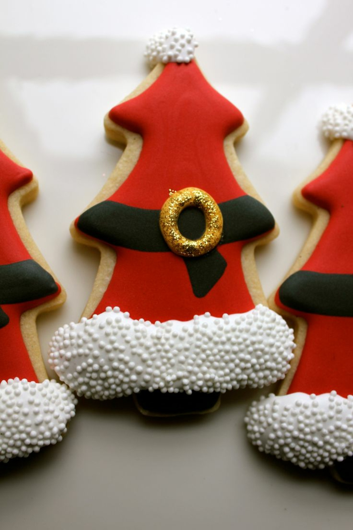 idée glaçage biscuit noël costume père noël