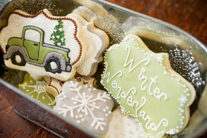 idée glaçage biscuit noël déco vintage