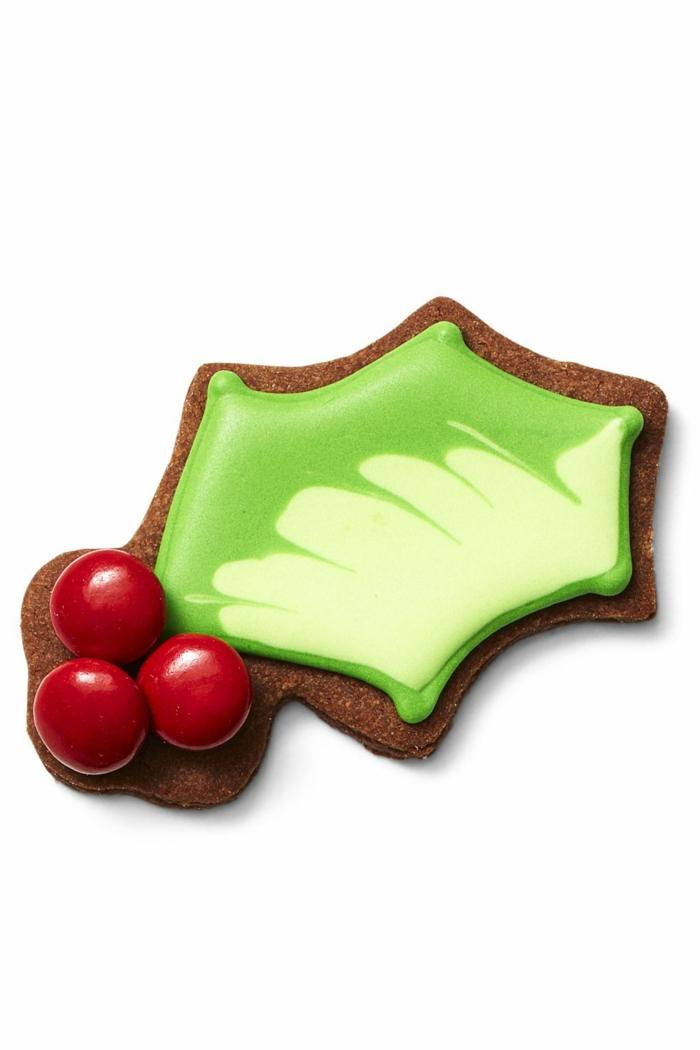 idée glaçage biscuit noël houx baies