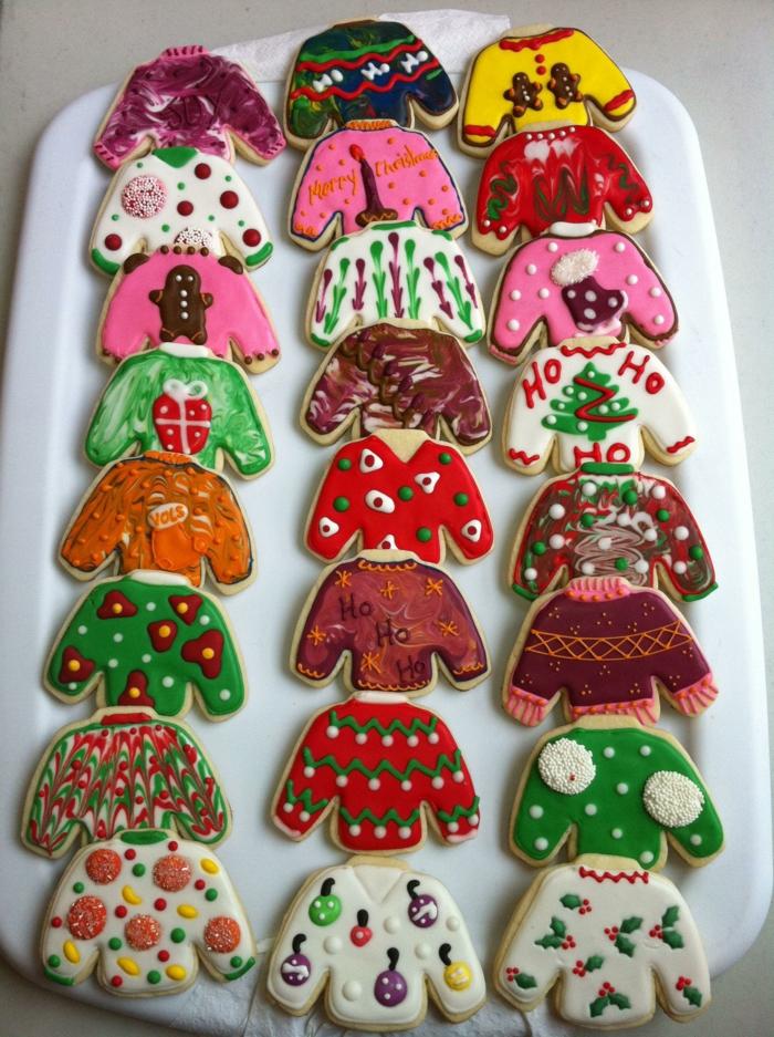 idée glaçage biscuit noël pulls de noël