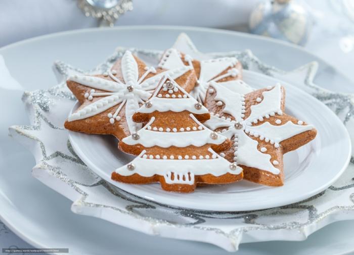 idée glaçage biscuit noël sapins enneigés