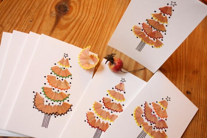 idée inspirante de carte de voeux Noël avec des épluchures