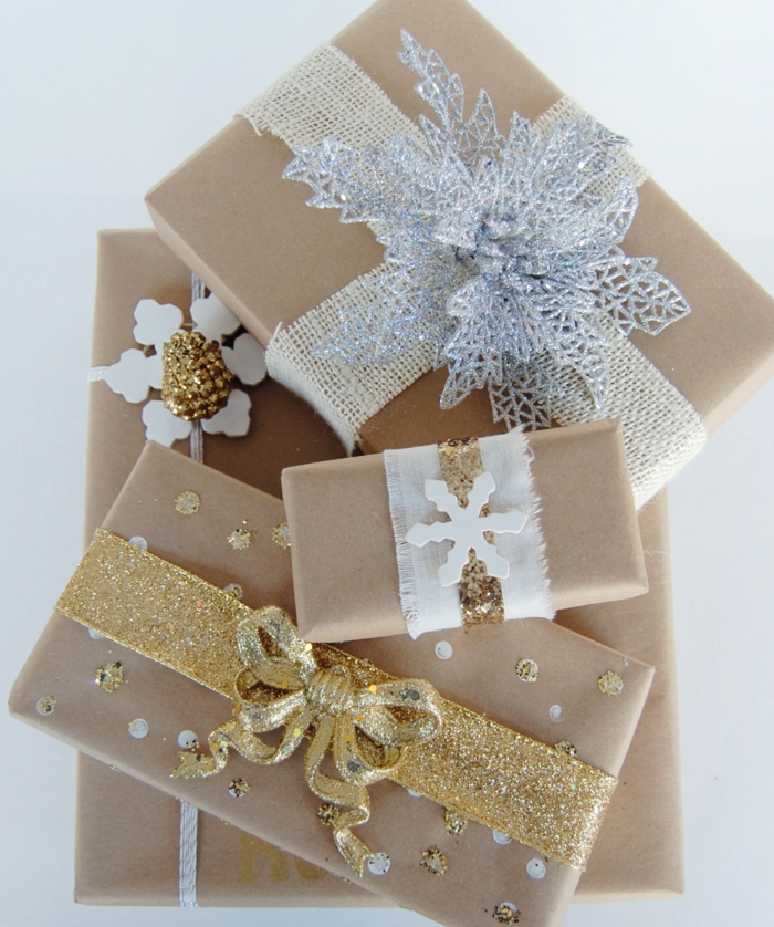 idée inspirante pour noël papier cadeau kraft