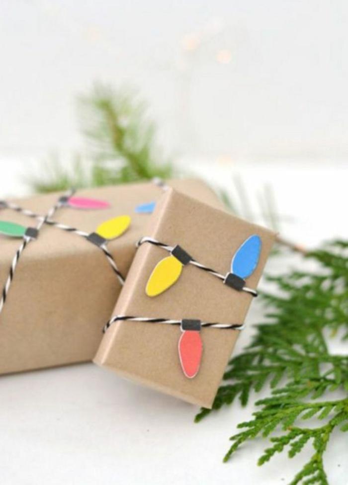 idée papier cadeau kraft emballage unique et facile
