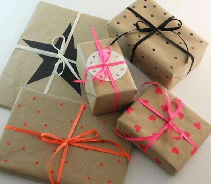 idée papier cadeau kraft pour noël