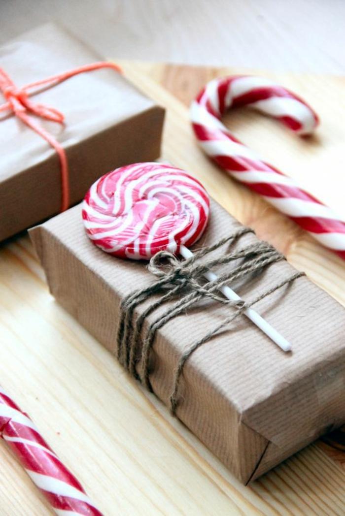 idée papier cadeau kraft