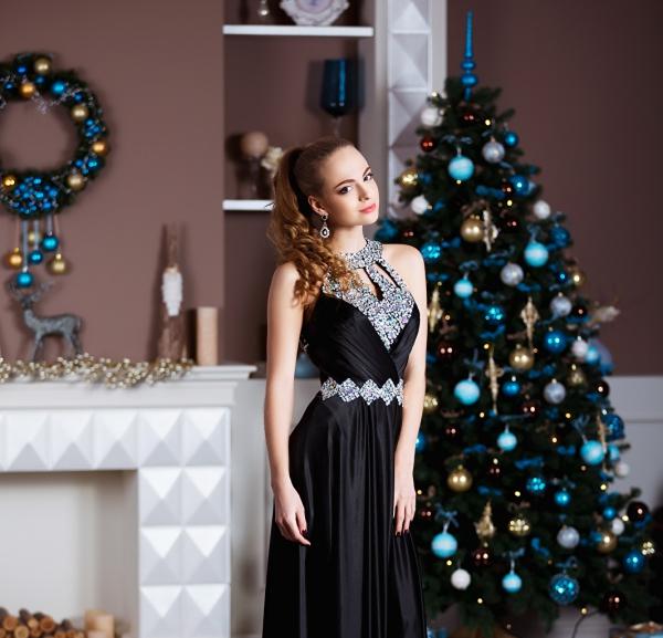 idée tenue Nouvel An noir classique