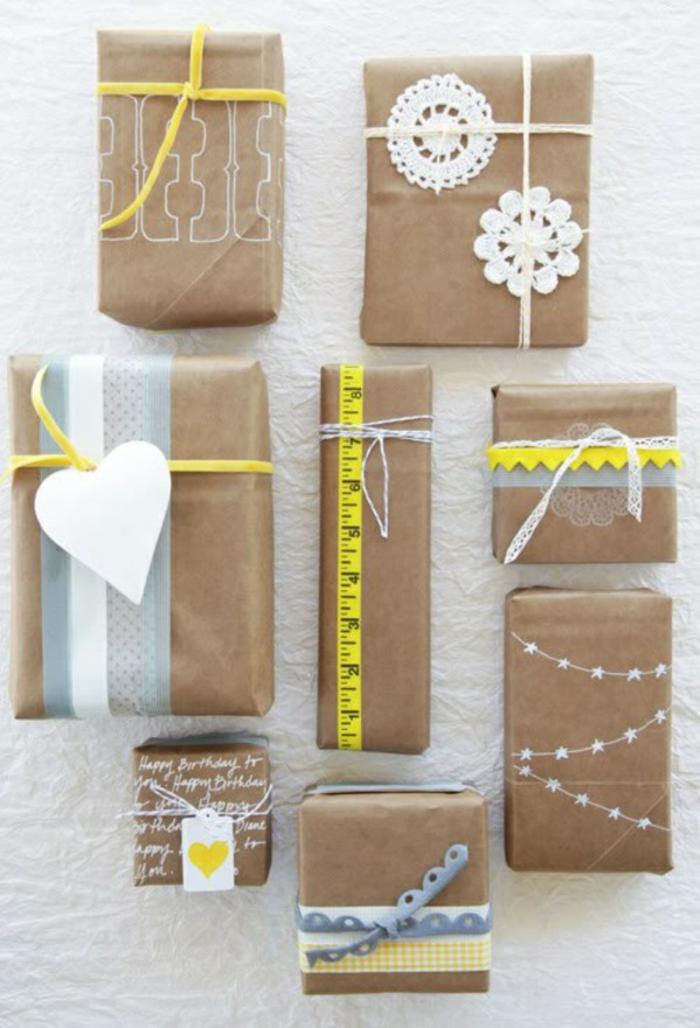 idées à copier pour emballage avec du papier cadeau kraft