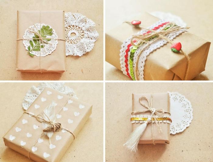 idées inspirantes papier cadeau kraft