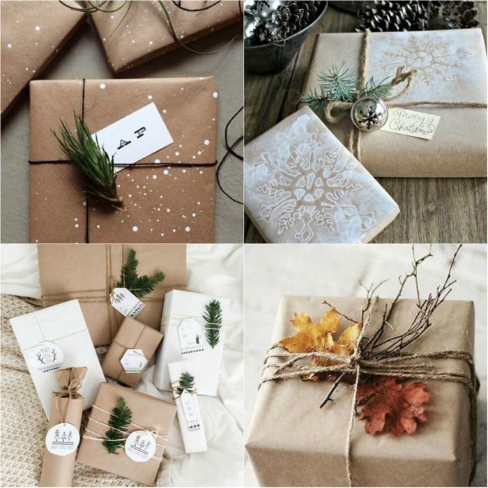 idées papier cadeau kraft
