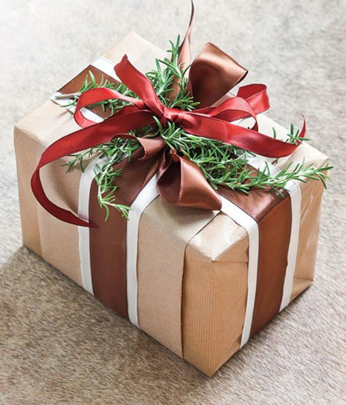 joli cadeau idée déco avec papier cadeau kraft