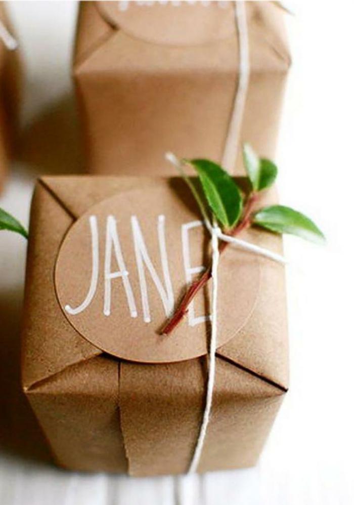 jolie déco avec papier cadeau kraft