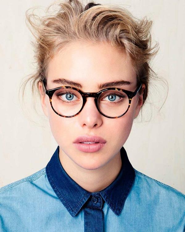 lunettes rhabillées aux cadres ronds