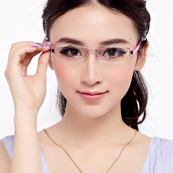 lunettes rhabillées cadres rectangulaires