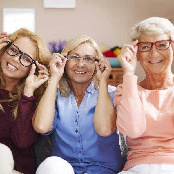 lunettes rhabillées de cadres différents