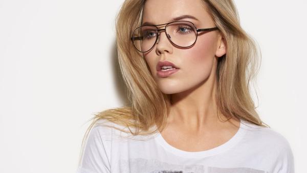 lunettes rhabillées de forme intéressante