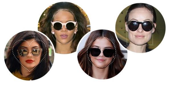 lunettes rhabillées forme du visage