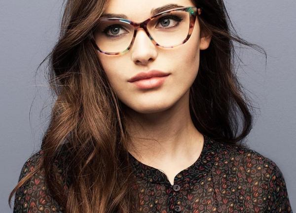 lunettes rhabillées texture multicolore