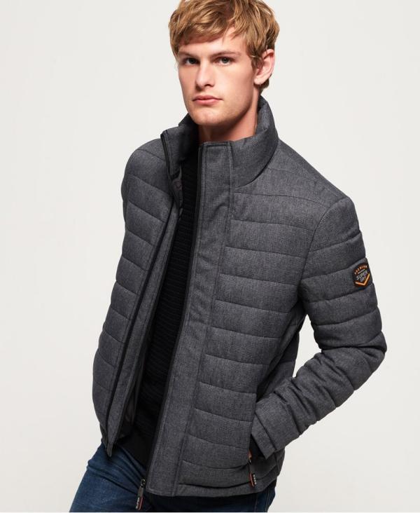 manteau d'hiver homme à double fermeture