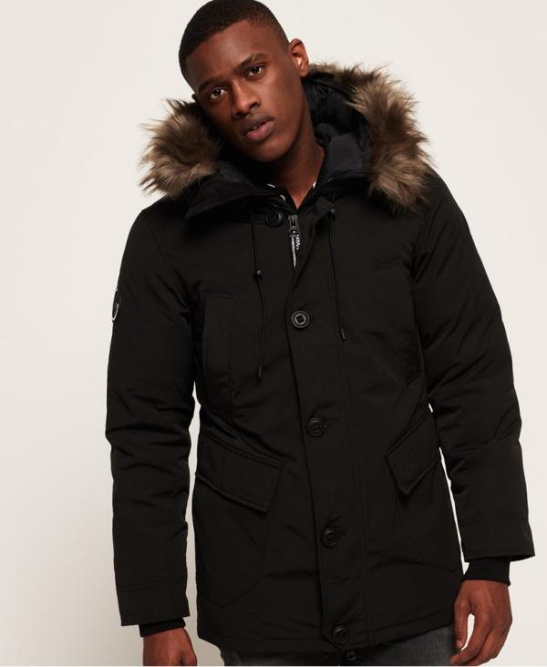 manteau d'hiver homme capuchon amovible