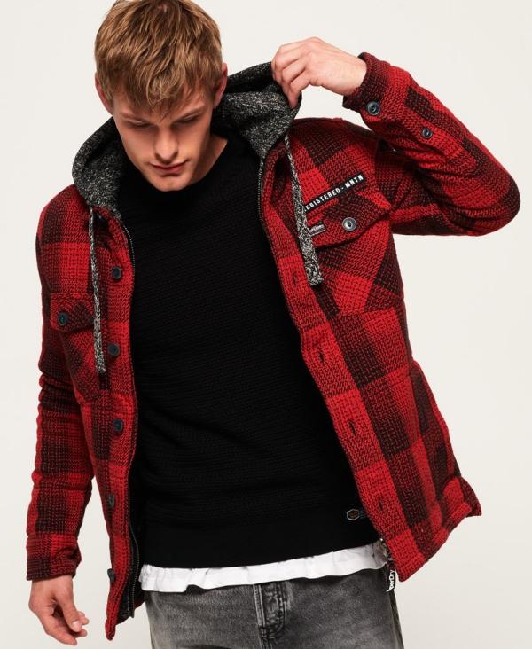 manteau d'hiver homme carrés et rayures