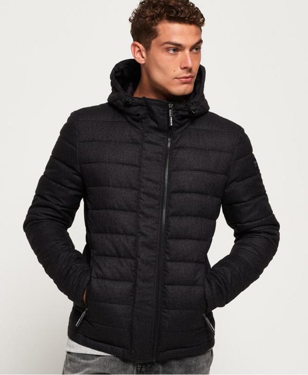 manteau d'hiver homme col allongé