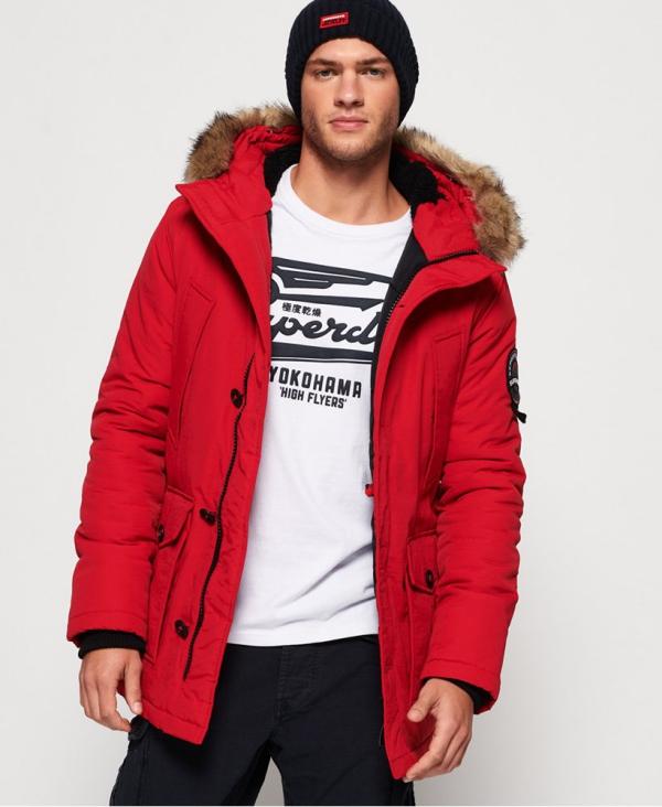 manteau d'hiver homme couleur rouge