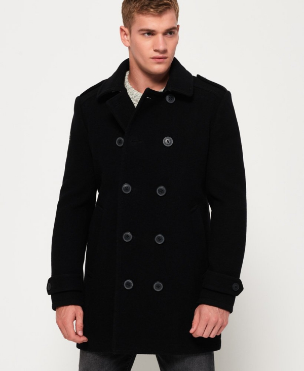 manteau d'hiver homme deux rangées de boutons
