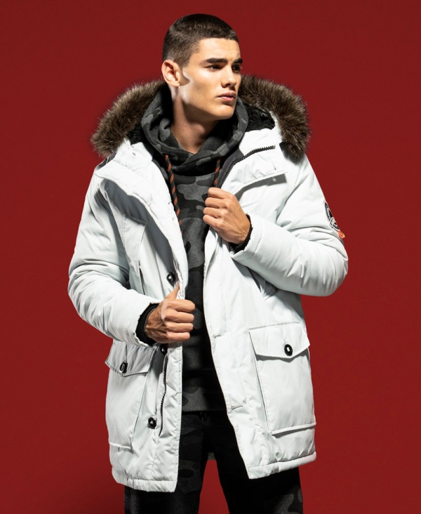 manteau d'hiver homme fausse fourrure