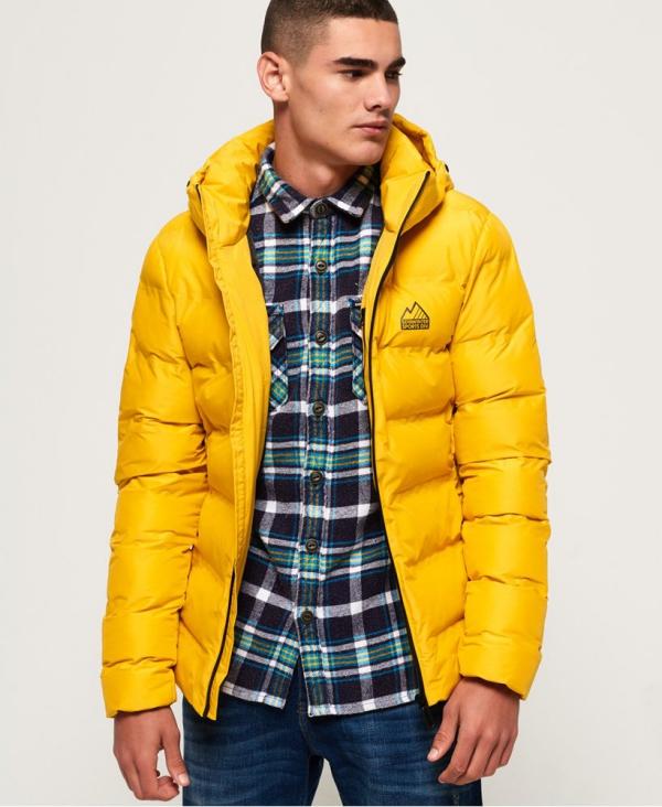 manteau d'hiver homme jaune citron pour plus de diversité