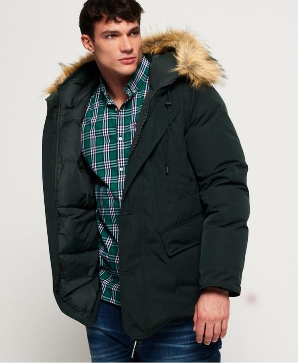 manteau d'hiver homme poche intérieure