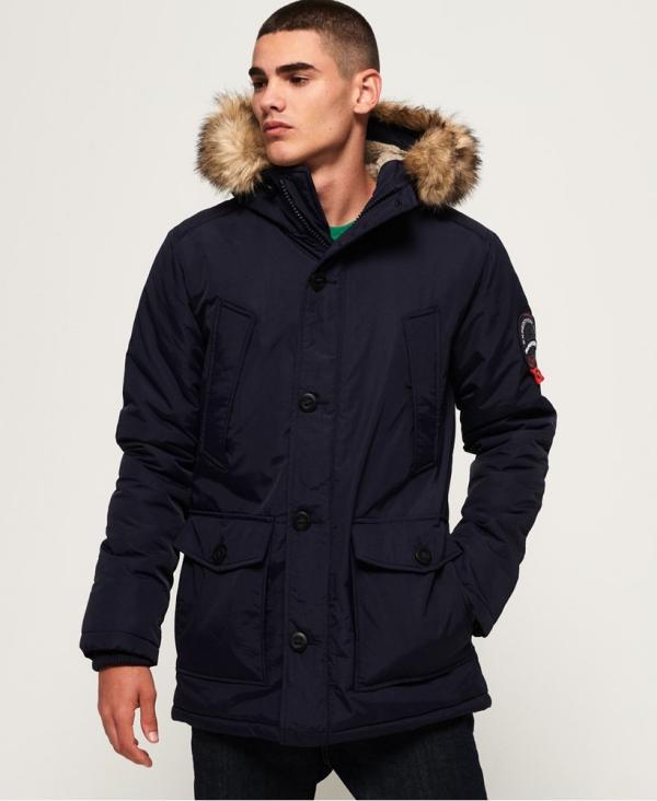 manteau d'hiver homme quatre poches extérieures