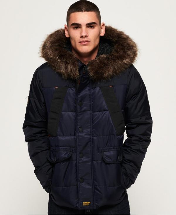 manteau d'hiver homme un bleu foncé