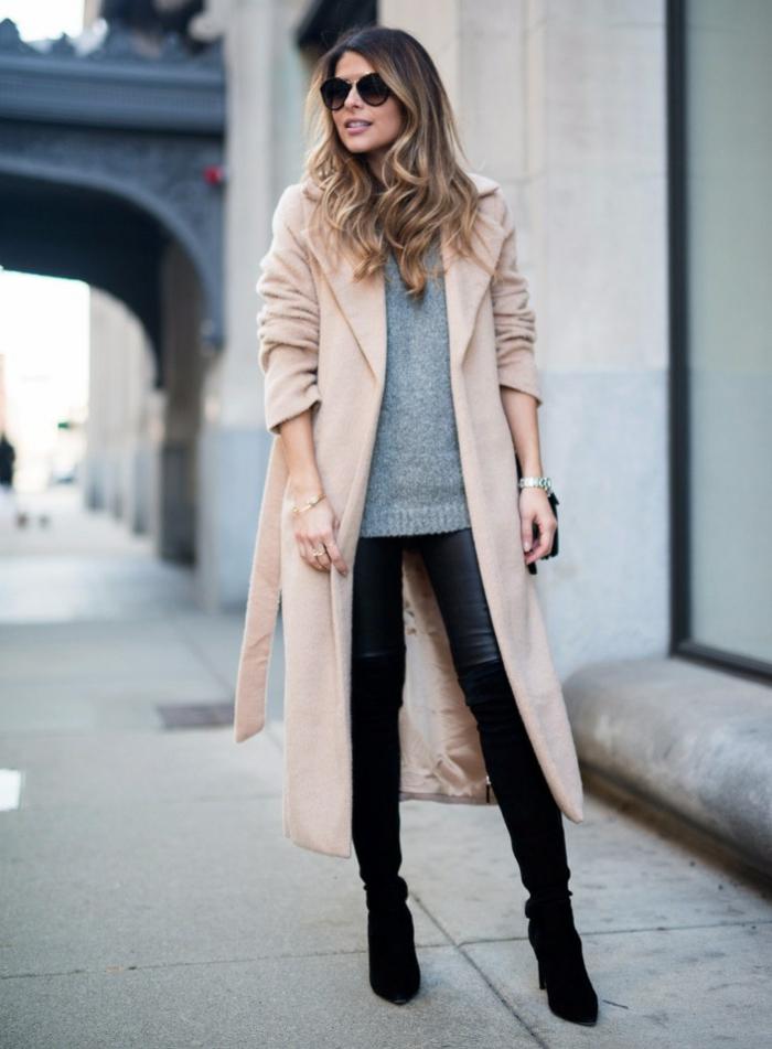 manteau long idée comment porter des cuissardes