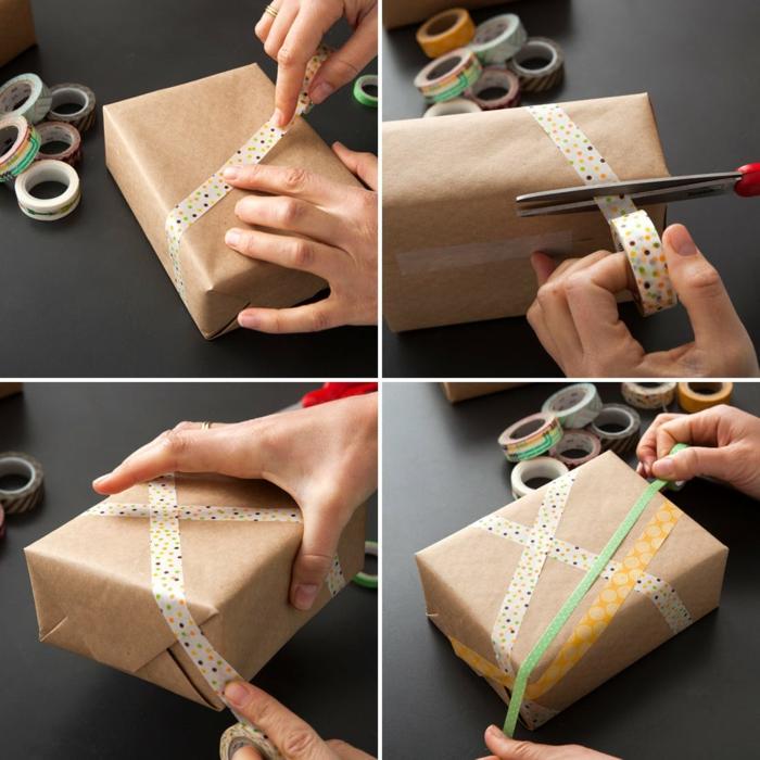 masking tape déco papier cadeau kraft