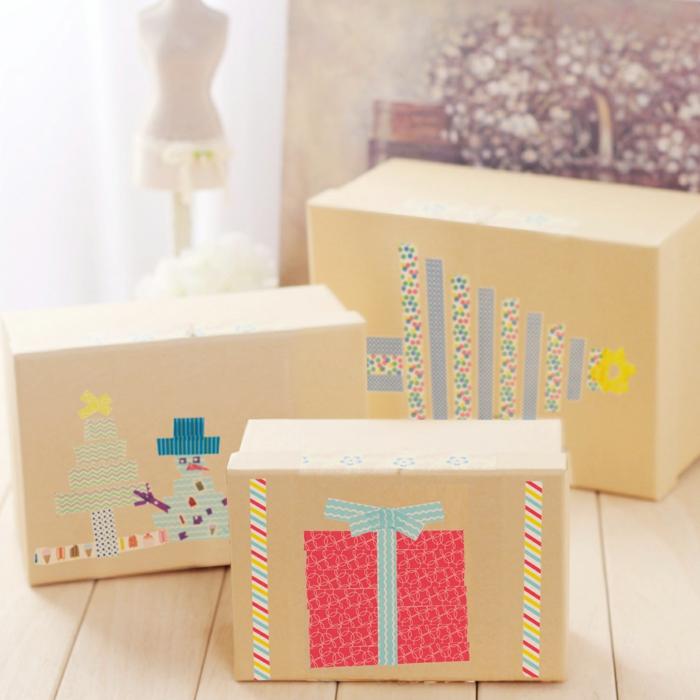 masking tape idées d'emballage de cadeau