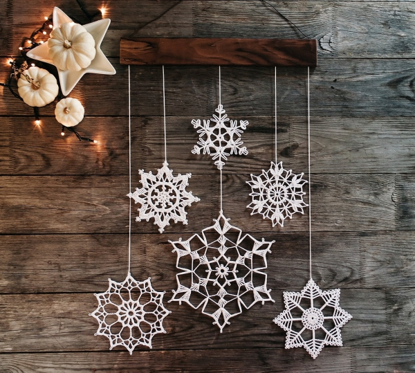 mobile de Noël à fabriquer au crochet