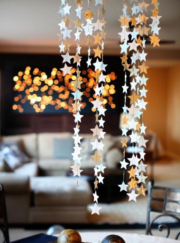 mobile de Noël à fabriquer guirlandes d'étoiles