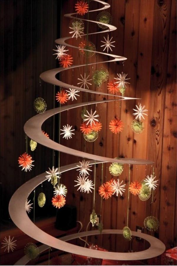 mobile de Noël à fabriquer une jolie spirale