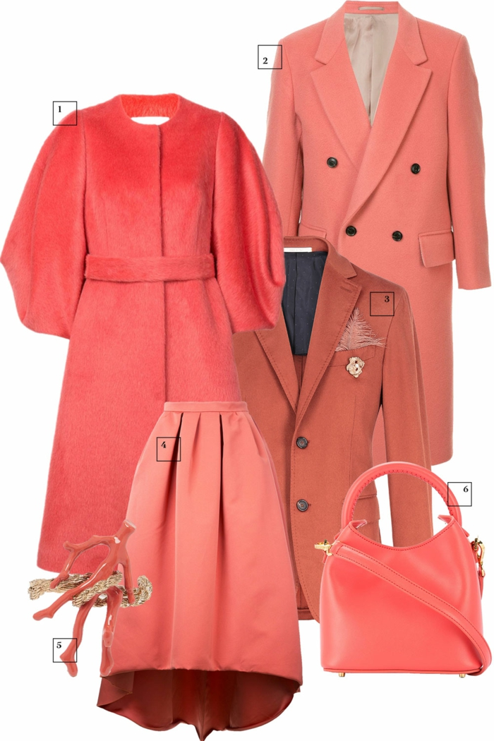 mode en living coral couleur pantone 2019